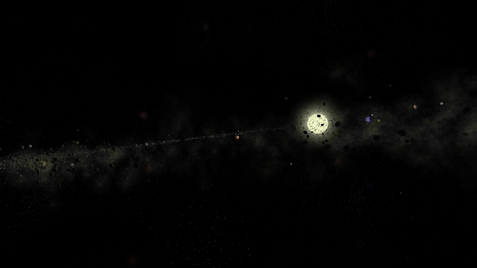 3DWorld: Asteroid Belts and Planet Clouds