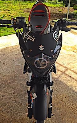 Modifikasi Suzuki Satria Standar Racing Sederhana