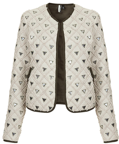 topshop mirrored jacket