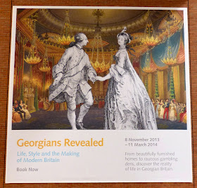 Poster advertising Georgians Revealed exhibition at British Library