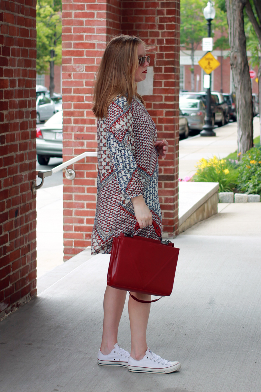 boston style blogger, pier 6 boston, what i wore boston, boston style guide, boston eats blog, wayf patchwork dress, shopbop patchwork dress,