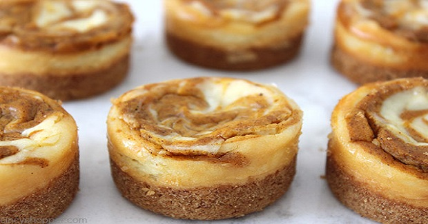 Mini Pumpkin Swirl Cheesecakes Recipe