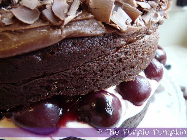 Chocolate Cherry Cream Cake | The Purple Pumpkin Blog