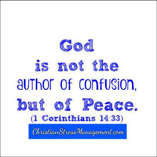 God is not the author of confusion but of peace 1 Corinthians 14:33