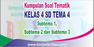 Kumpulan Soal Tematik Kelas 4 SD Tema 4 ( Subtema 1 , 2 dan 3 ) Dilengkapi Kunci Jawaban