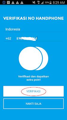 cara verifikasi nomor hp di Aplikasi Jakpat Android