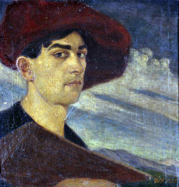 Brunelleschi Umberto, Self Portrait, Portraits of Painters, Fine arts, Portraits of painters blog, Paintings of Brunelleschi Umberto, Painter Brunelleschi Umberto