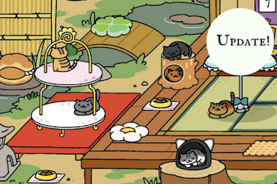 neko atsume update adds new cats items and wallpaper the bookish gamer. Black Bedroom Furniture Sets. Home Design Ideas