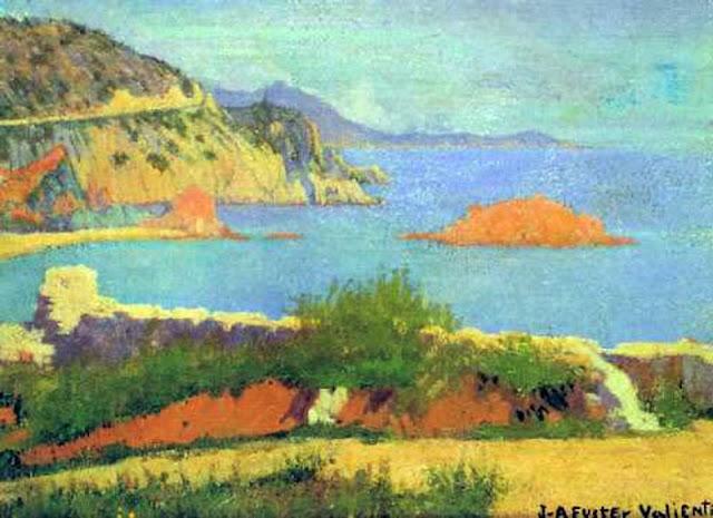 Joan Antoni Fuster i Valiente, Paisaje costero de Mallorca, Mallorca en Pintura, Mallorca pintada, Paisajes de Mallorca