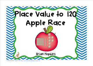 FREEBIE Place Value to 120 Race (Task Cards)