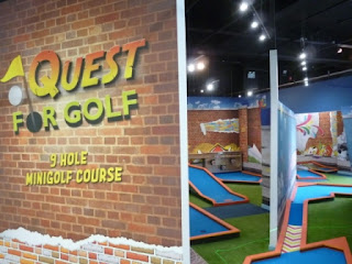 Photo of the Krazy Golf Minigolf course at Quest Merry Hill