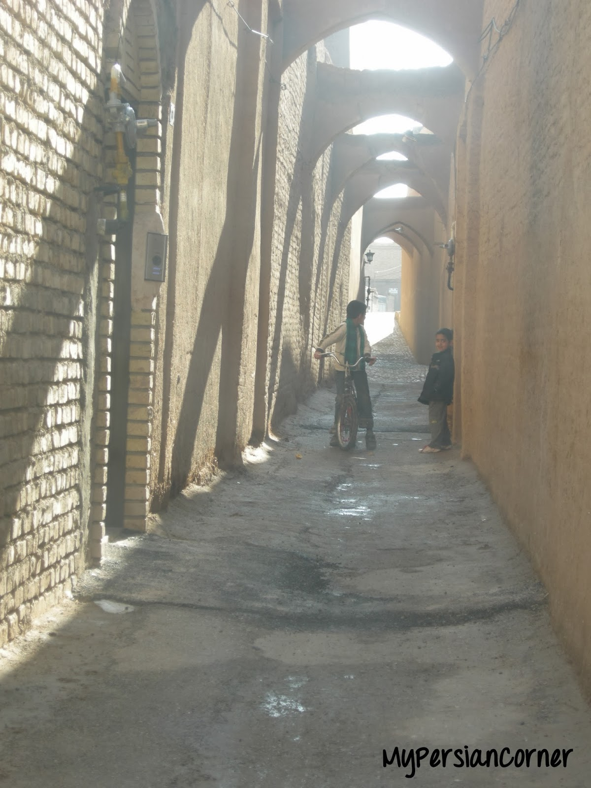 Zoroastrian neighborhood Yazd Iran