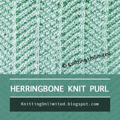 Herringbone Stitch Pattern. Only need to know how to knit and purl.  Nice easy yet fun pattern. Great for beginning knitters.