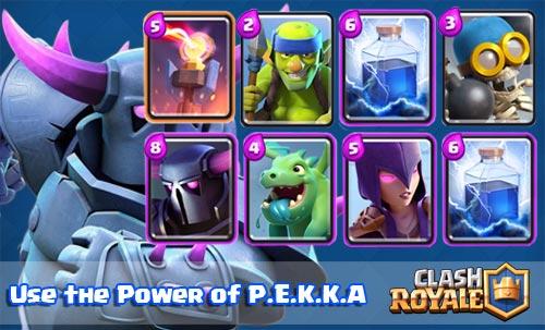Strategi serangan deck PEKKA Arena 4 Clash Royale Clash Royale