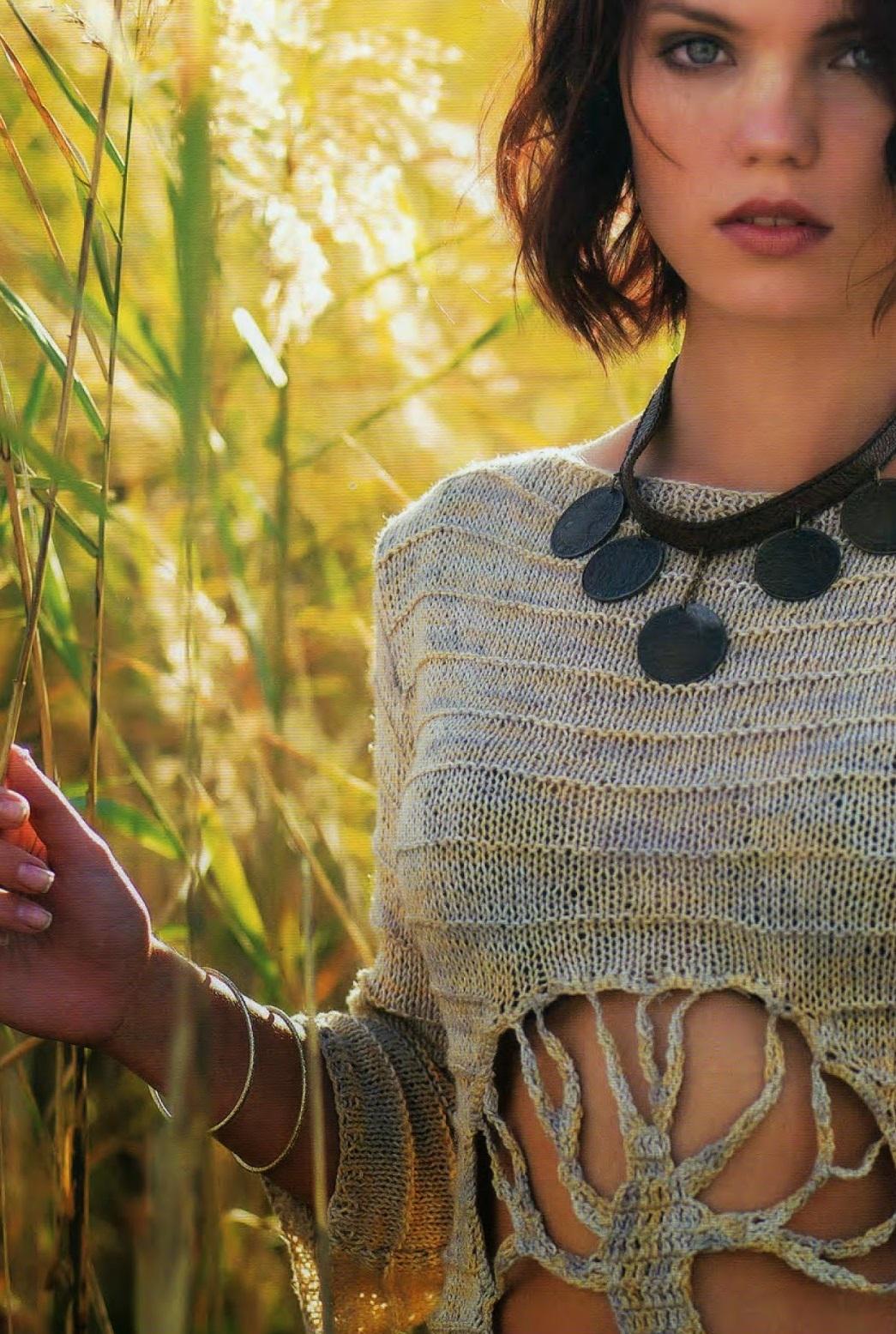 jersey, árbol de la vida, croché, ganchillo, top collar, revistas, tejer