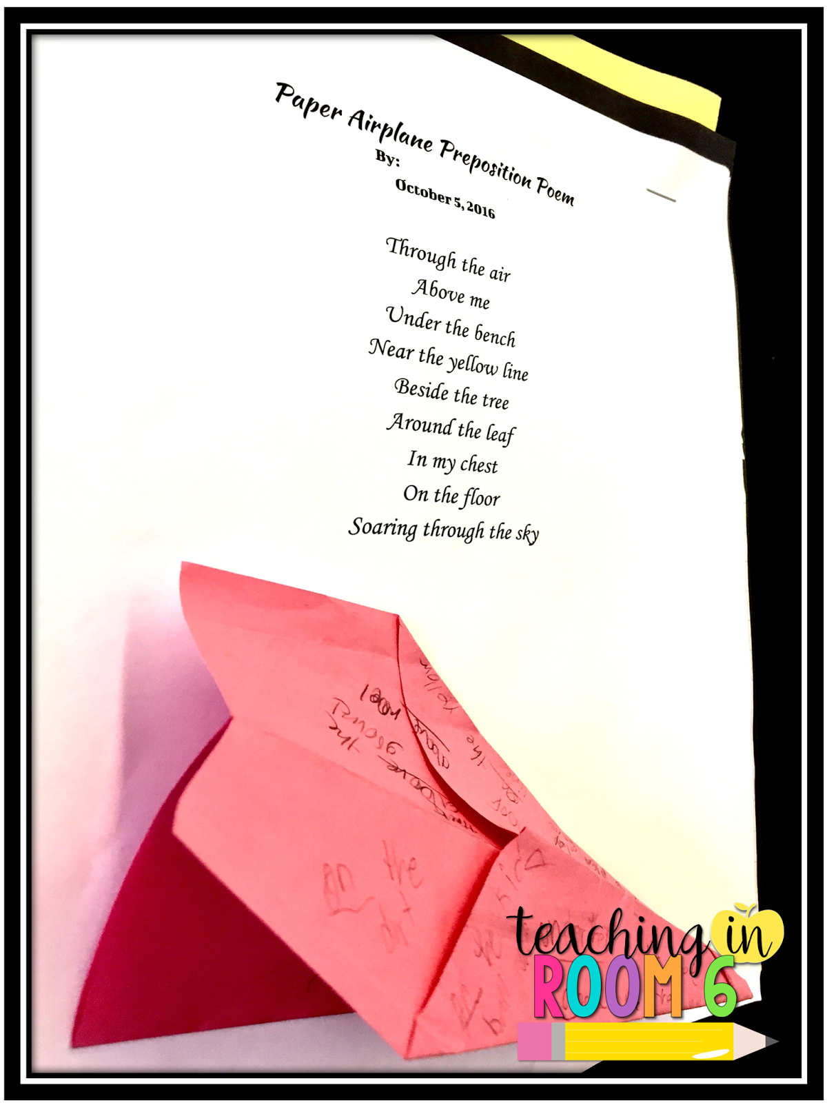 Prepositional Phrase Paper Planes and Poems - Teaching in ...