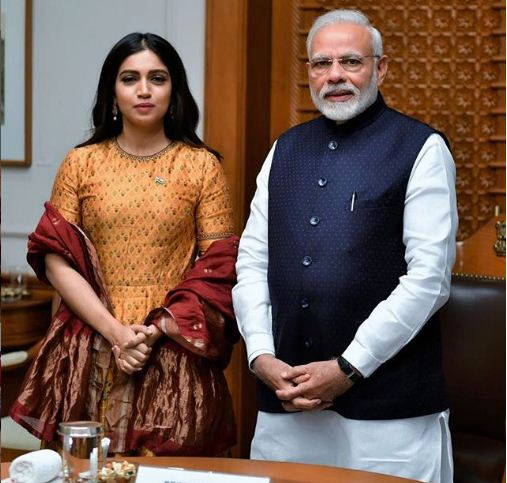 bhumi pednekar A moment with the Prime Minister of our country @narendramodi sir