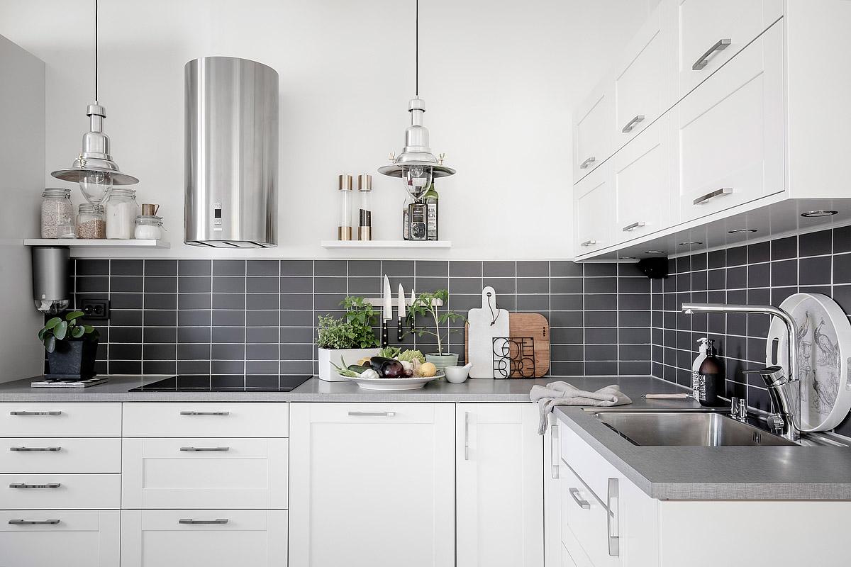 Blog wnętrzarski  design, nowoczesne projekty wnętrz Biała kuchnia z drewni   -> Biala Kuchnia Z Drewnianym Blatem Jaka Podloga