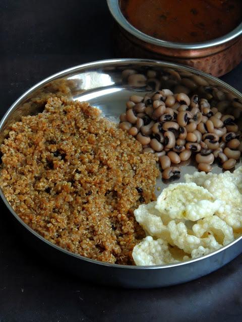 No Onion No Garlic Vatha Kuzhambu Quinoa