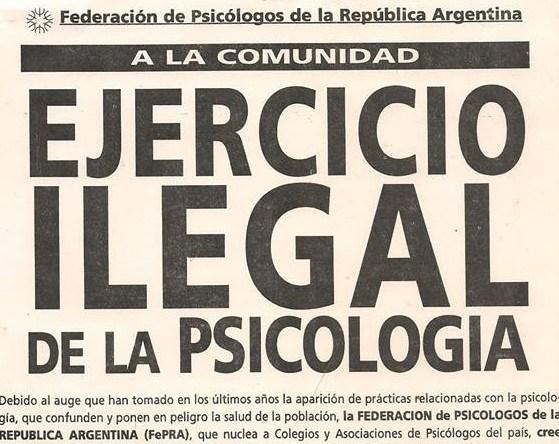 psicología ilegal