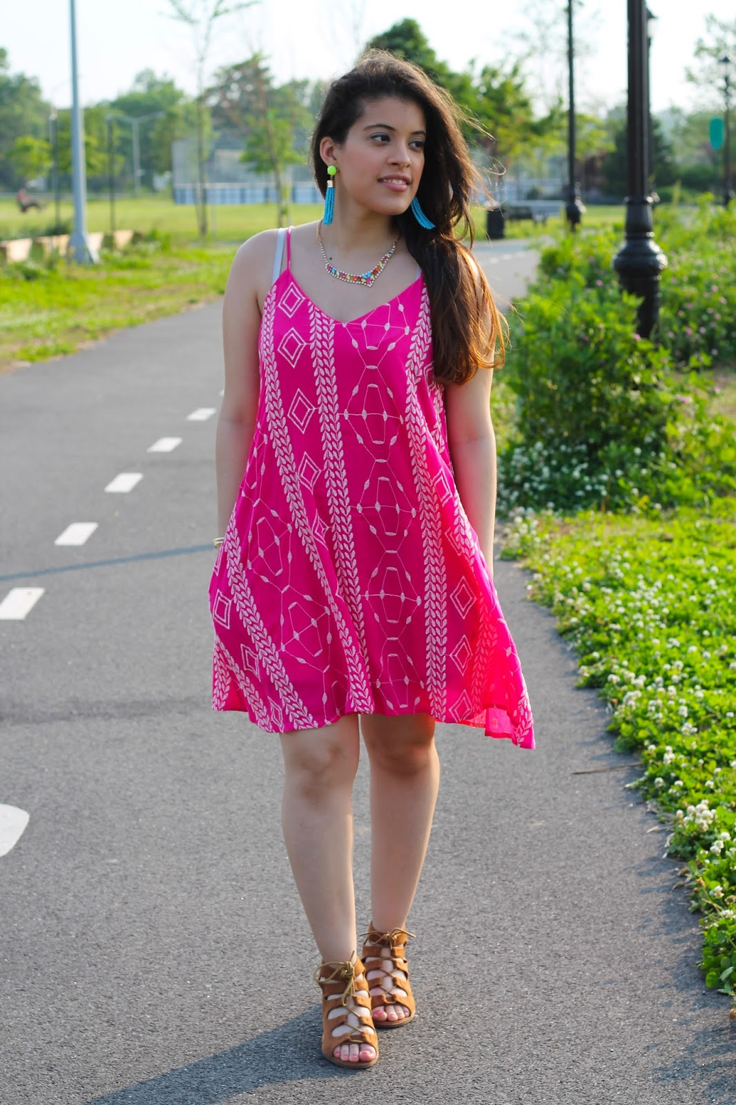 The Mint Julep Boutique: Bright Fuchsia Summer Dress.