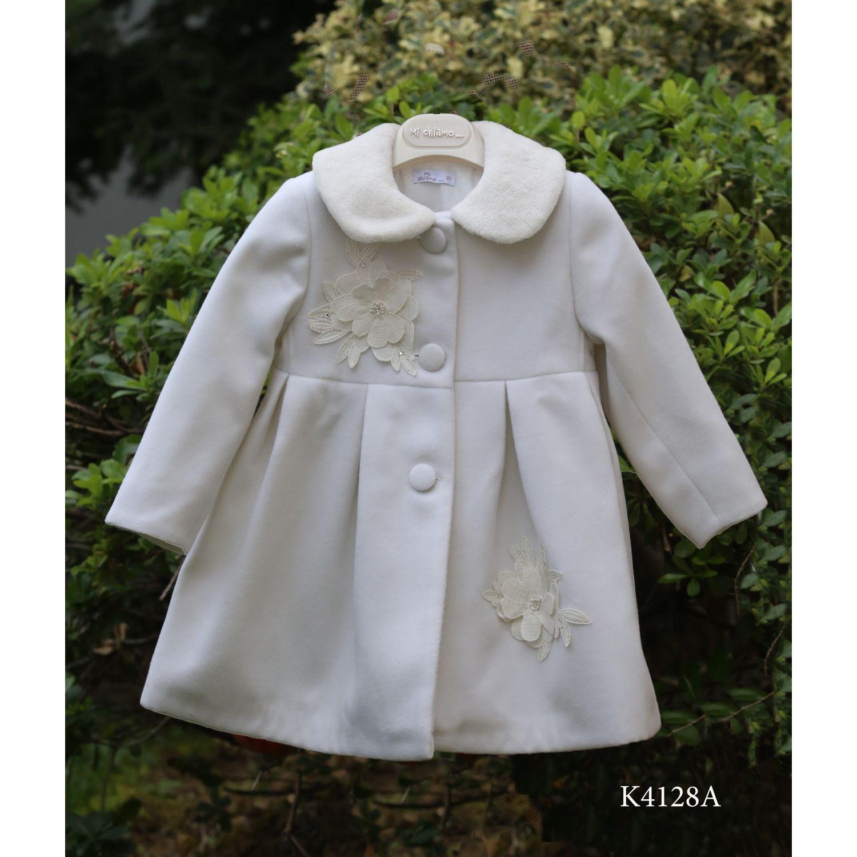 Baptismal woolen coat for girl K4128a