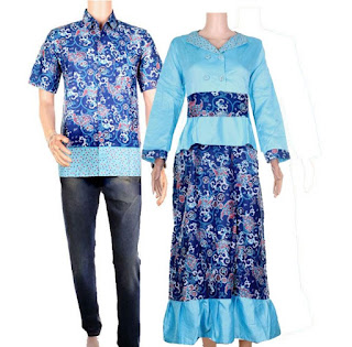model baju batik couple pesta terbaru
