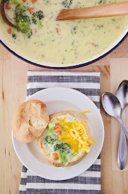 Making your favorite restaurant soup at home is easy and delicious with this Panera-copycat broccoli cheddar soup!