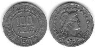 Moeda de 100 Réis, 1931