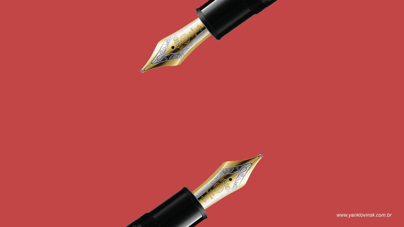 duas canetas tinteiro