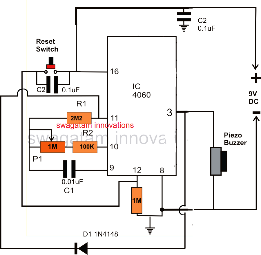 Simple Timer Using Ic 4060 Adjustable Dc Power Supply By Lm338 Electronic Projects Circuits Accurate Circuit