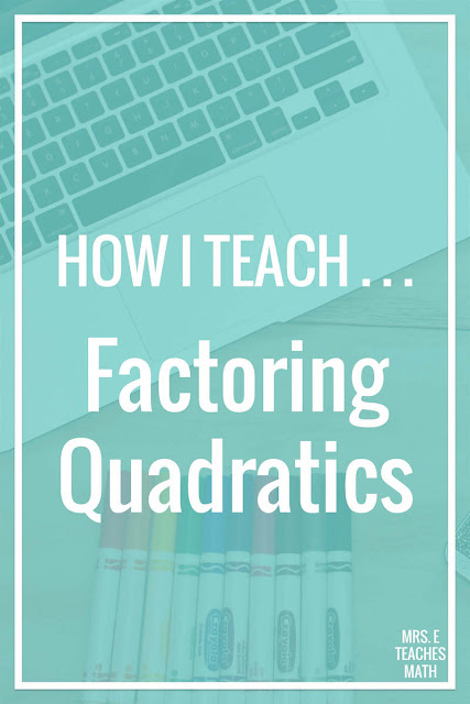 Using this method to teach factoring quadratics has helped my algebra students so much!  There are no tricks! This works with any lesson and is easy for teachers too.