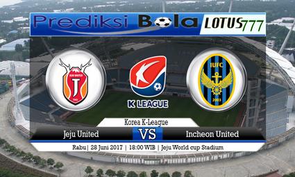 Prediksi Pertandingan antara Jeju United vs Incheon United Tanggal 28 Juni 2017