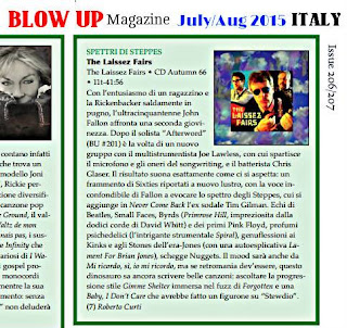 BLOW UP magazine (Italy) reviews The Laissez Fairs debut album