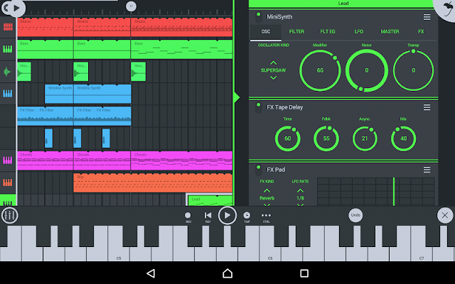 FL Studio Android APK + DATA Free Download v3.1.53 Full 2017 -- ReddSoft