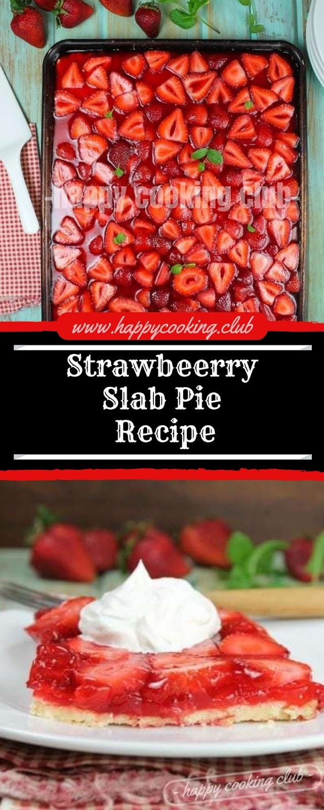 Strawbeerry Slab Pie Recipe
