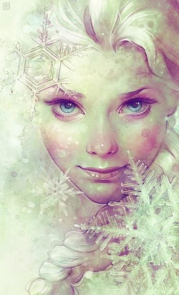 """Elsa"" por Anna Dittmann | imagenes lindas | dibujos | drawings"