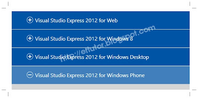 Download Visual Studio Express 2012 for Windows Phone