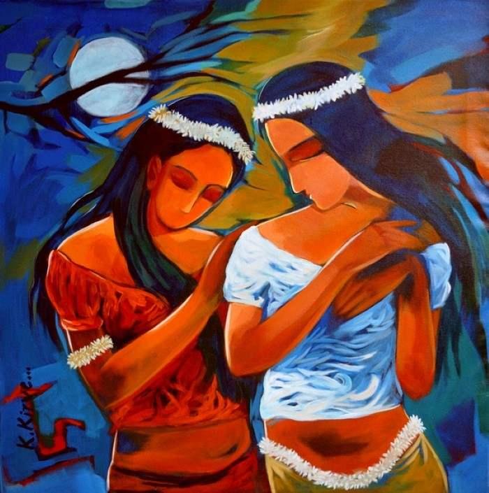 Индийский художник. Krantishil Kirve