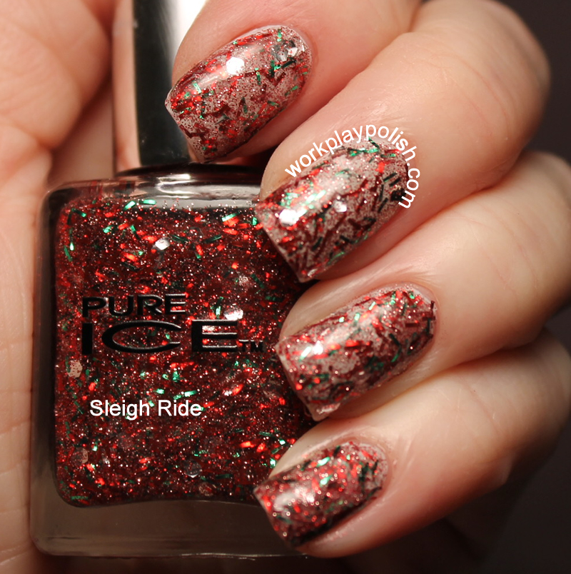 Pure Ice Sleigh Ride Swatch (work / play / polish)
