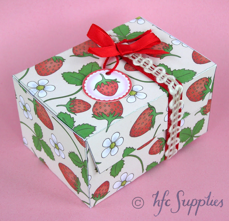 Printable Gift Box tutorial hazelfishercreations