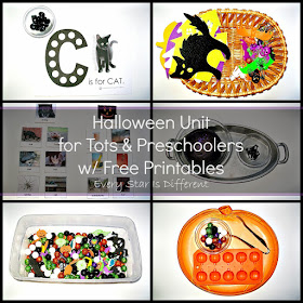 Halloween Unit for Tots & Preschoolers with free printables