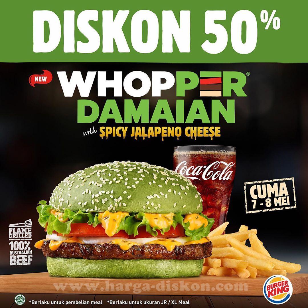 Promo Burger King Diskon 50 Whopper Damaian Periode 7 Mei 8 Mei 2019 News And Talking