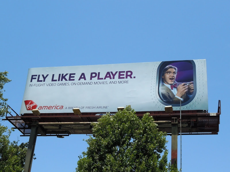 Virgin Fly like a player billboard