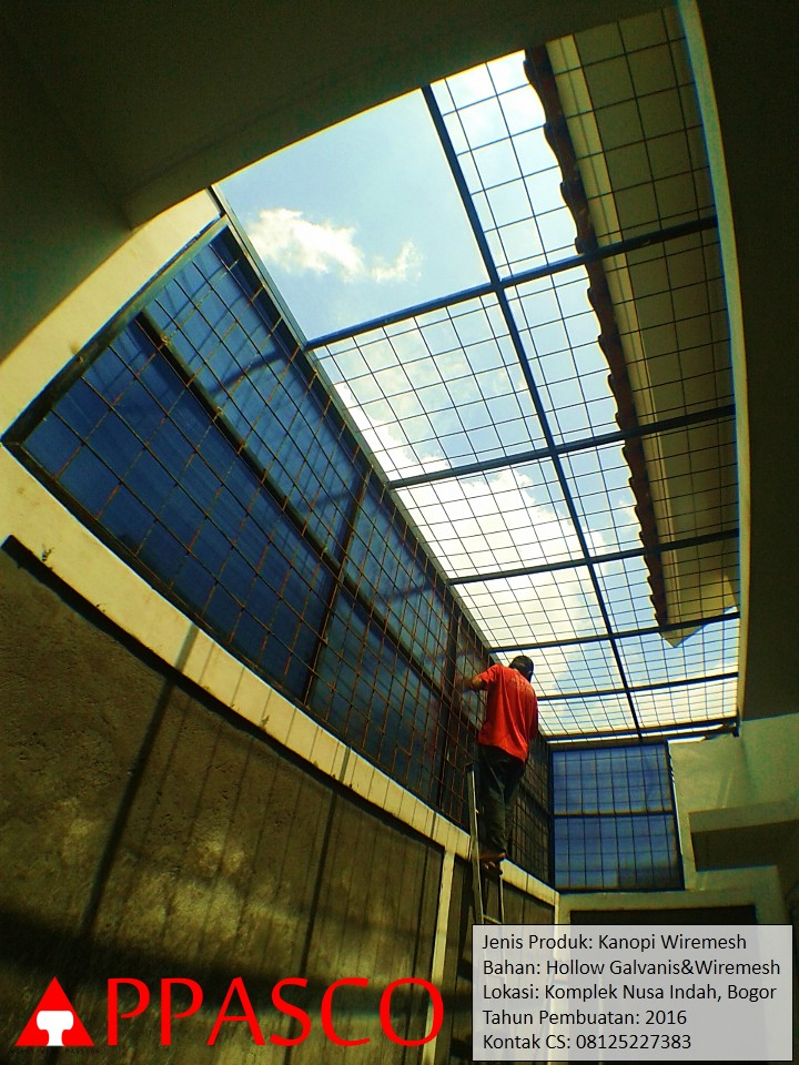 Kanopi Wiremesh di Bogor