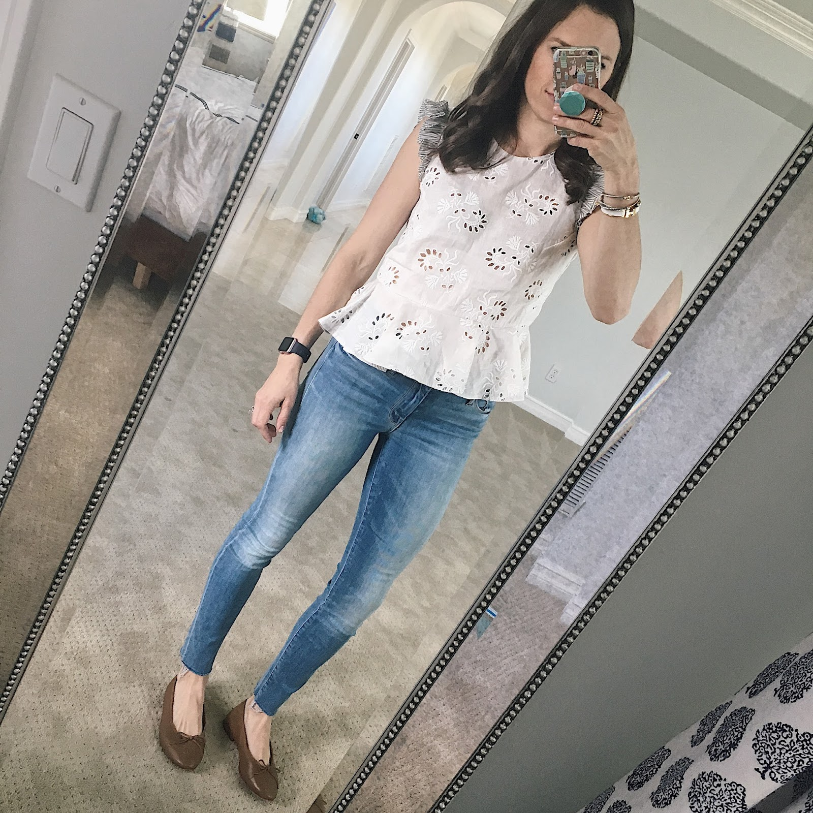 mother denim outfit