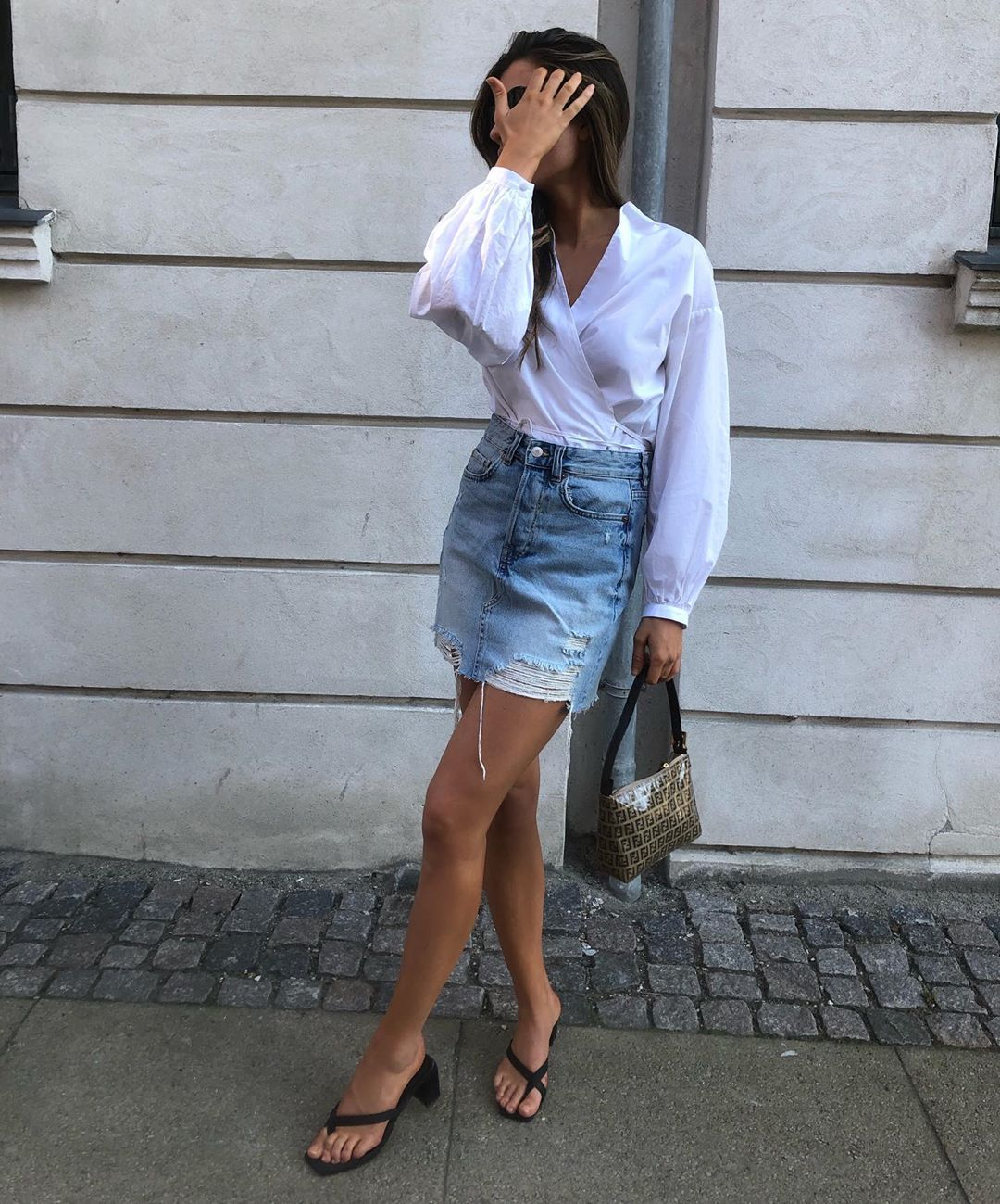 This Denim Skirt Look Is All I Want to Wear This Spring