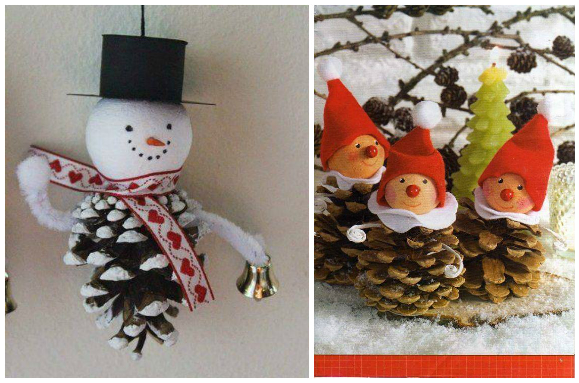 11 adornos navide os para hacer con pi as - Decoracion navidena con pinas ...