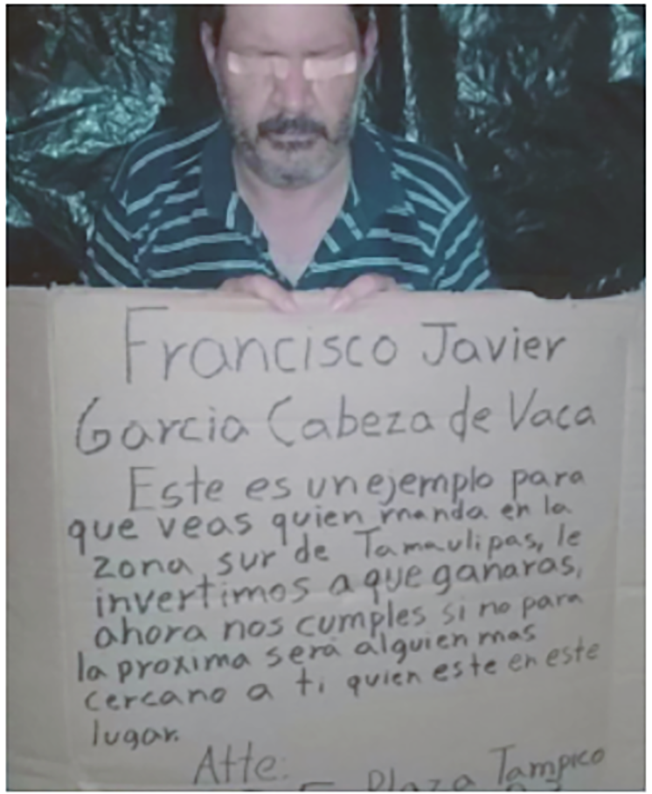 """CRIMINALES EXHIBEN a PRIMO """"PLAGIADO"""" de CABEZA de VACA con NARCOMENSAJE AMENAZADOR del CARTEL del GOLFO...con malos augurios Whatsapp"""
