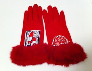 kırmızı eldiven kışlık yün tasarım